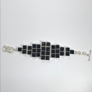 NWOT Black Geometric Bracelet